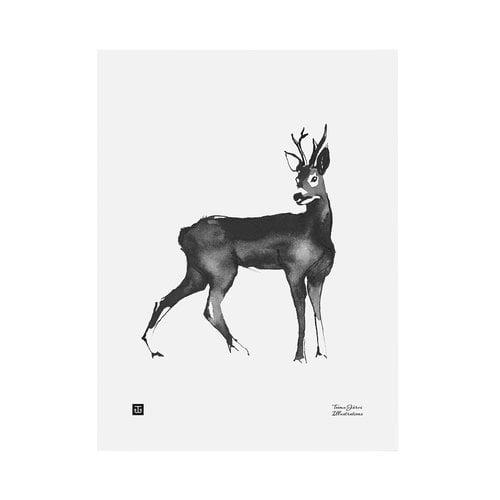 Teemu Järvi Illustrations Deer poster, 30 x 40 cm