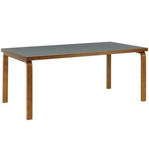 Artek Aalto table 83, pewter linoleum - walnut