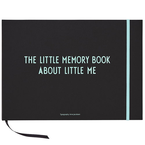 Design Letters The little memory book about little me, turkoosi