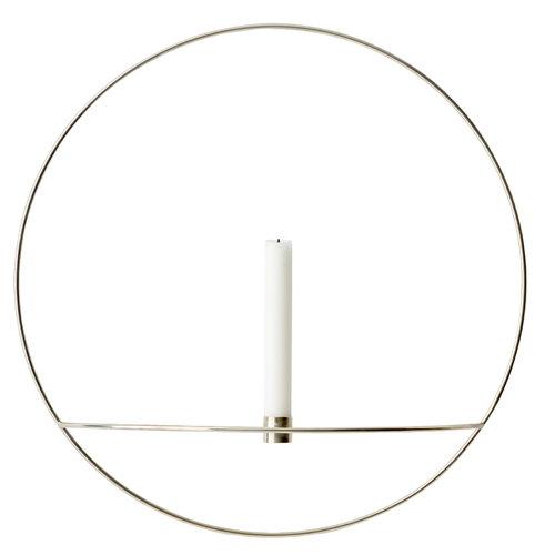 Menu POV Circle kynttil�njalka, L, hopea