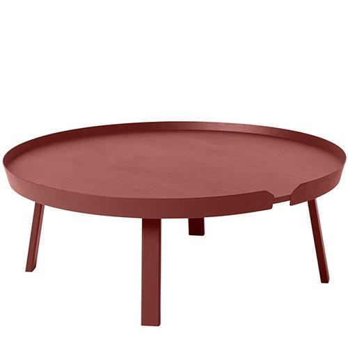 Muuto Around table XL, dark red