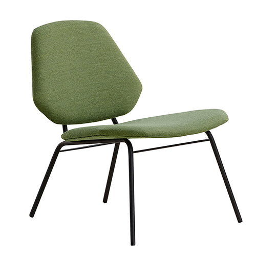 Woud Lean lounge chair, green