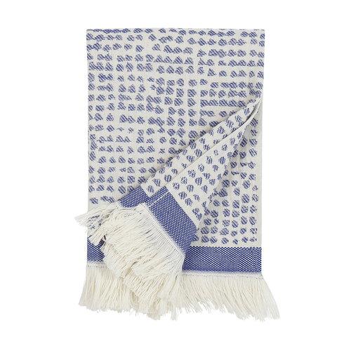 Marimekko Orkanen Hamam k�sipyyhe, luonnonvalkoinen - sininen