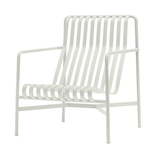 Hay Palissade lounging chair, high, cream white