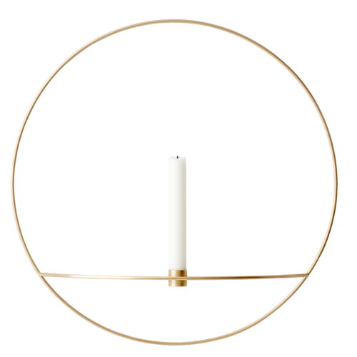 Menu POV Circle candleholder, L, brass