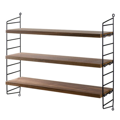 String String Pocket shelf, walnut-black