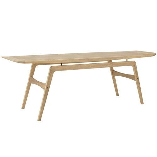 Warm Nordic Surfboard coffee table, oak