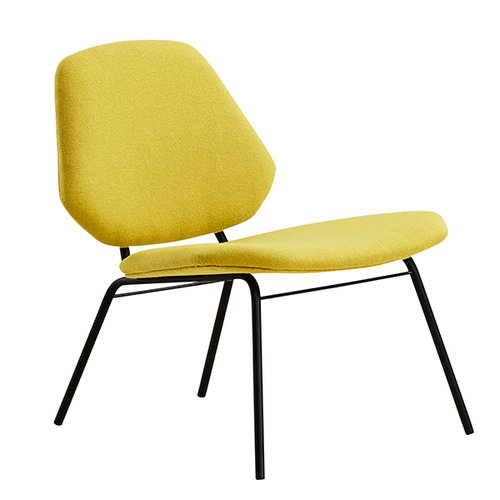 Woud Lean lounge chair, yellow