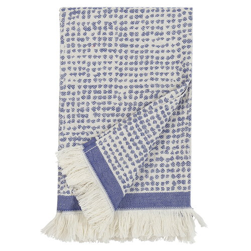 Marimekko Orkanen Hamam bath towel, off white - blue
