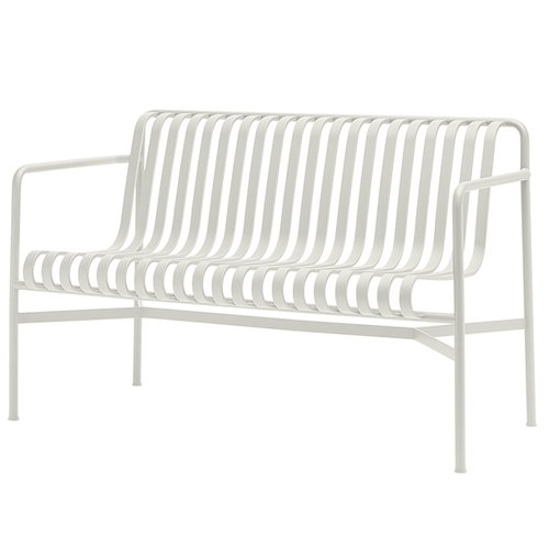 Hay Palissade dining bench, cream white