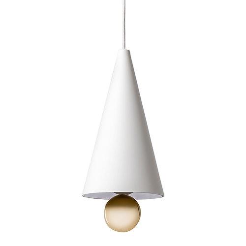 Petite Friture Cherry pendant, small, white