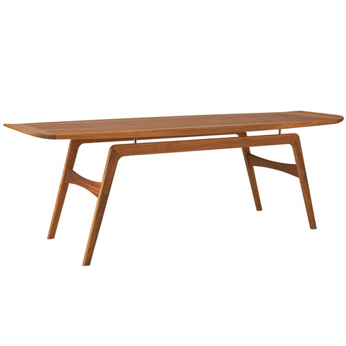 Warm Nordic Surfboard coffee table, teak