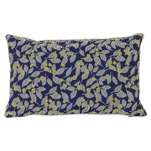 Ferm Living Salon cushion, 40 x 25 cm, Flower, blue