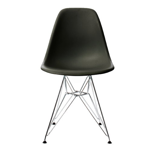Vitra Eames DSR chair, black - chrome