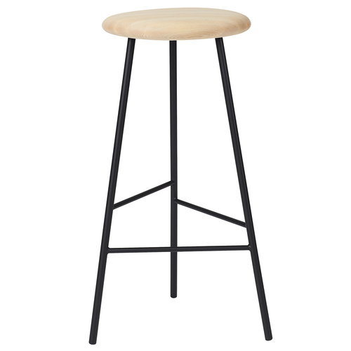 Warm Nordic Pebble bar stool, 75 cm, oiled ash - black