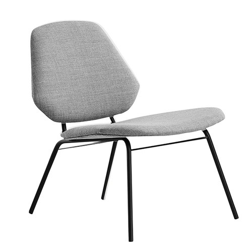 Woud Lean lounge chair, grey