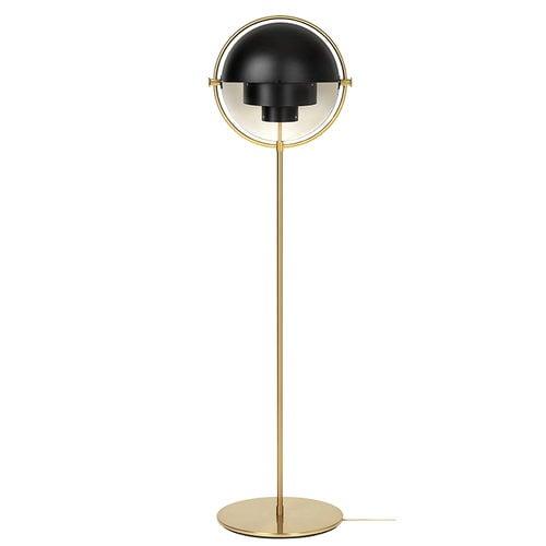 Gubi Multi-Lite floor lamp, brass - black