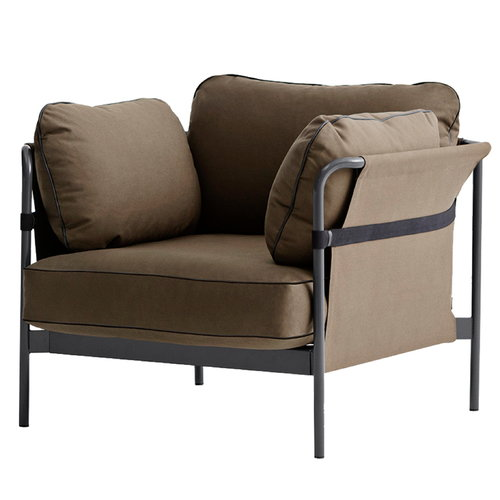 Hay Can 1-seater, charcoal-army frame, Army Canvas