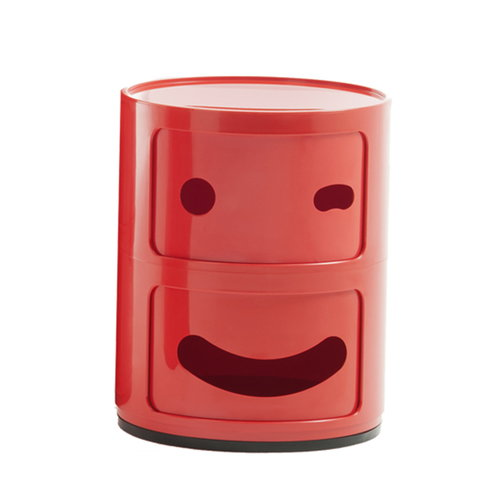 Kartell Componibili Smile storage unit 3, 2 modules, red