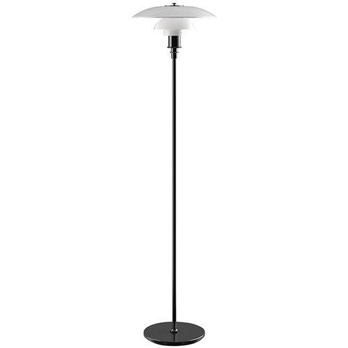 Louis Poulsen PH 3 1/2 - 2 1/2 floor lamp, metallised black, opal glass