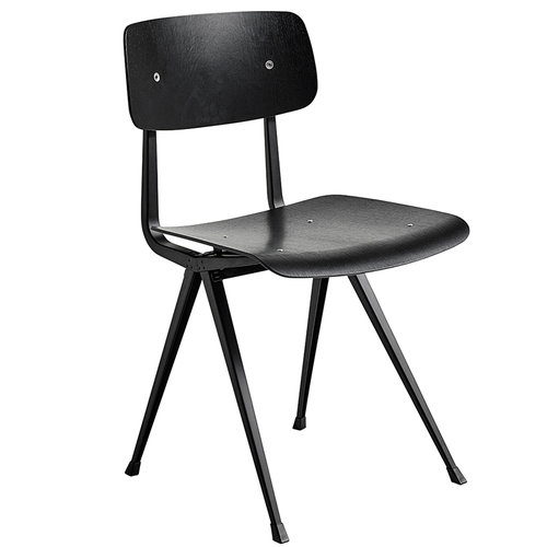 Hay Result tuoli, musta - musta tammi