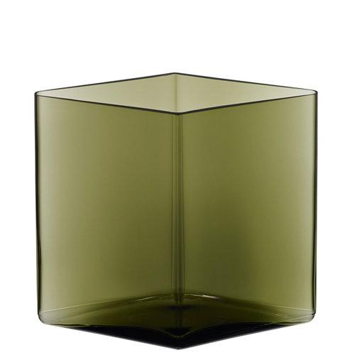 Iittala Ruutu vase, 205 x 180 mm, green