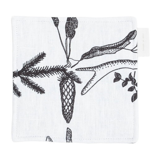 Saana ja Olli Myrskyn j�lkeen pot holder, white
