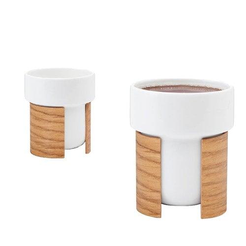 Tonfisk Design Warm cup 2,4 dl, set of 2, oak