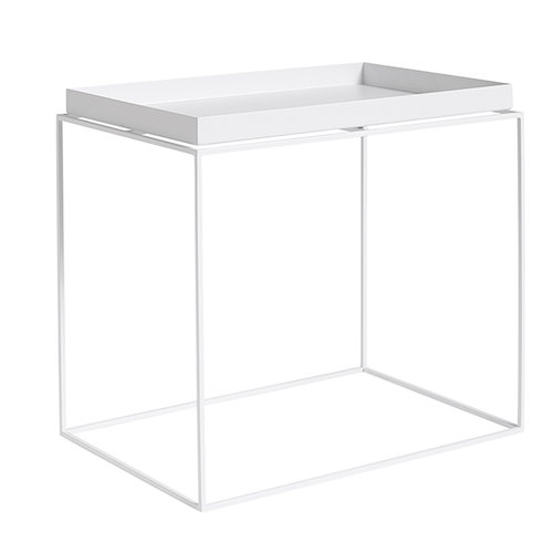 Hay Tray table rectangular, white
