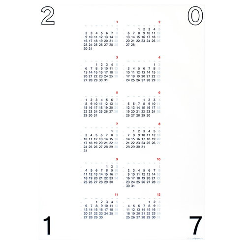 Typolar Typografinen kalenterijuliste 2017