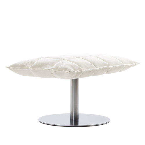 Woodnotes K ottoman, wide, base plate, white