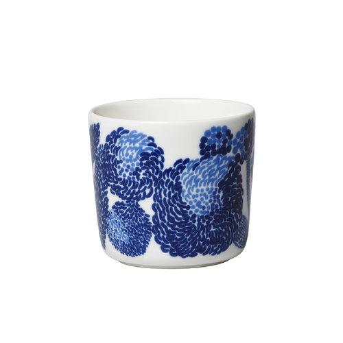 Marimekko Oiva - Mynsteri korvaton kahvikuppi 2 dl, sininen - valkoinen