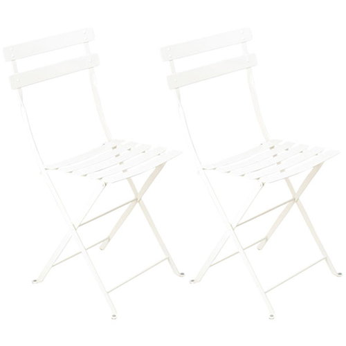 Fermob Bistro Metal chair, 2 pcs, cotton white