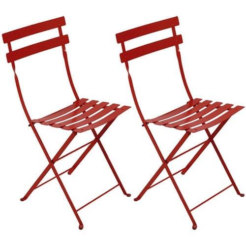 Fermob Bistro Metal tuoli, 2 kpl, chili