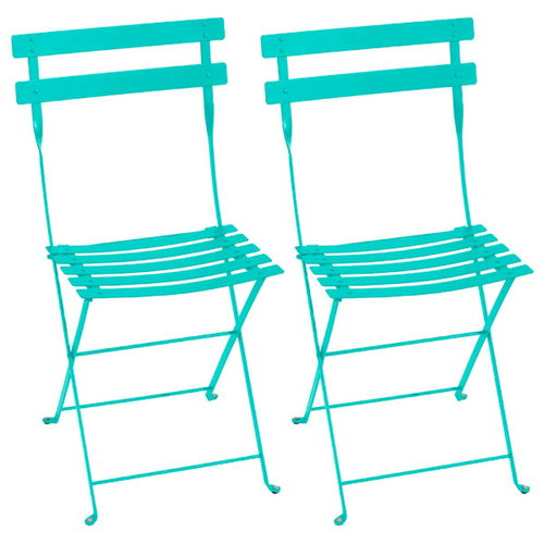 Fermob Bistro metal chair, 2 pcs, lagoon blue