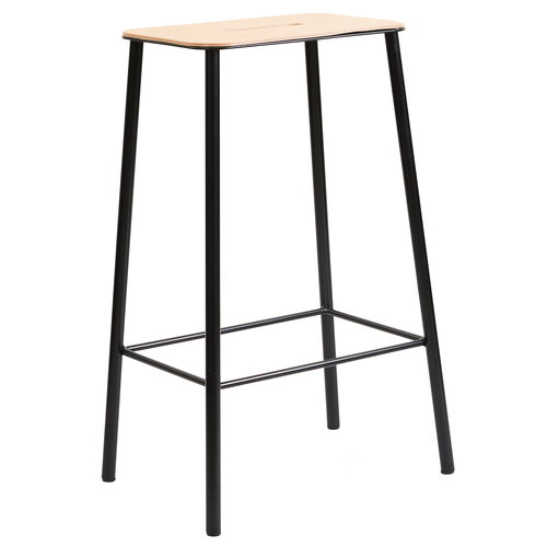 Frama Adam stool, 65 cm, leather - matt black