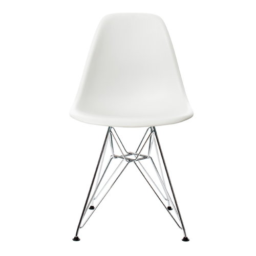 Vitra Eames DSR chair, white - chrome