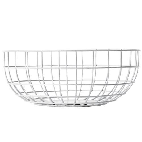 Menu Norm Wire Bowl, white