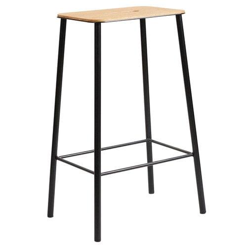 Frama Adam stool, 65 cm, oak - matt black