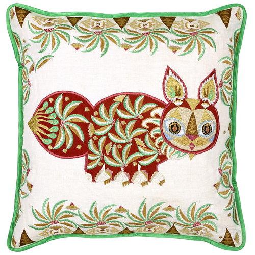Klaus Haapaniemi Pippa Cat cushion cover, linen - silk