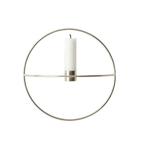 Menu POV Circle kynttil�njalka, S, hopea