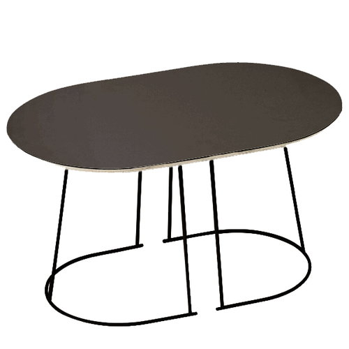 Muuto Airy coffee table, small, black, older version