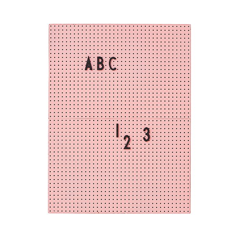 Design Letters Message board A4, pink