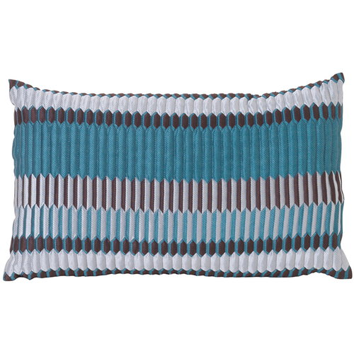Ferm Living Salon tyyny, 40 x 25 cm, Pleat, merensininen