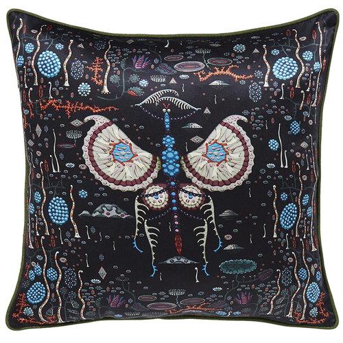Klaus Haapaniemi Black Lake cushion cover, silk