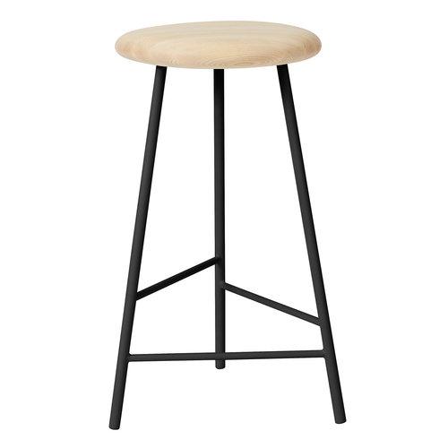 Warm Nordic Pebble bar stool, 65 cm, oiled ash - black
