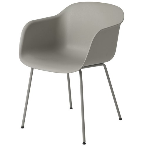 Muuto Fiber armchair, tube base, grey