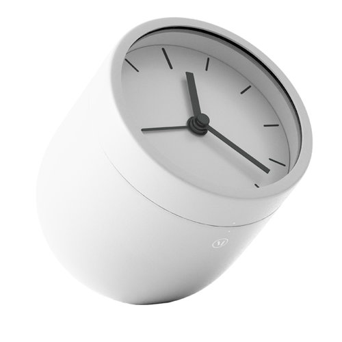 Menu Norm Tumbler alarm clock, white