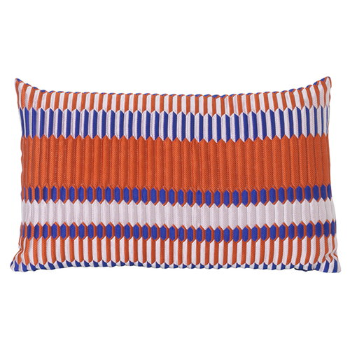 Ferm Living Salon tyyny, 40 x 25 cm, Pleat, ruosteenpunainen