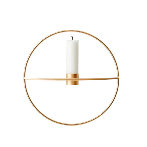Menu POV Circle candleholder, S, brass